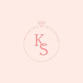 Vetor de design de distintivo de convite de casamento