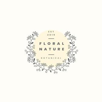 Vetor de design de distintivo de natureza floral