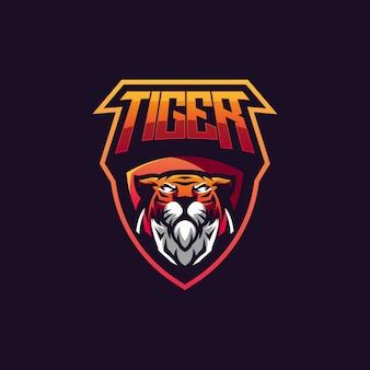 Vetor de design de distintivo de tigre
