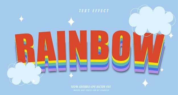 Vetor de design de efeito de texto arco-íris