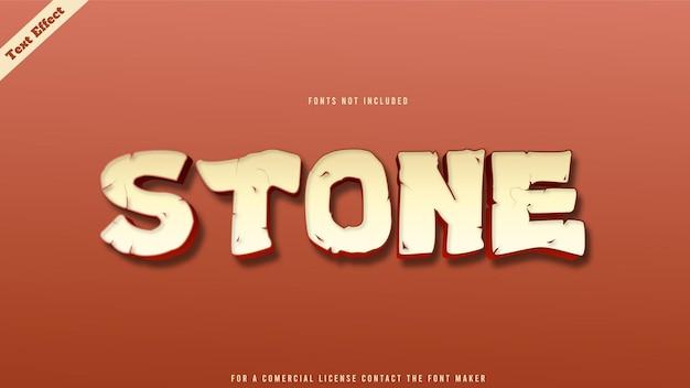 Vetor de design de efeito de texto de moda de pedra. texto 3d editável