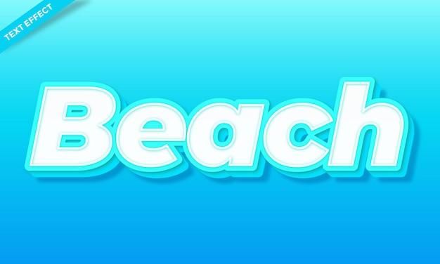 Vetor de design de efeito de texto de praia