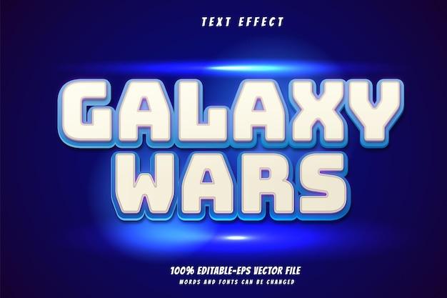 Vetor de design de efeito de texto galaxy wars 100% eps editável, palavras e fontes podem ser alteradas