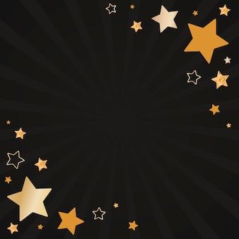 Vetor de design de fundo de estrelas festivas