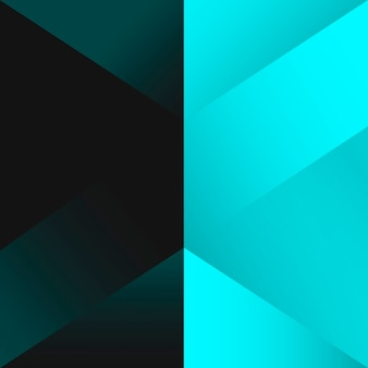 Vetor de design de fundo geométrico turquesa