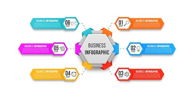 Vetor de design de infográfico simples para apresentação de negócios