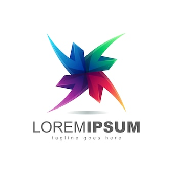 Vetor de design de logotipo abstrato colorfull