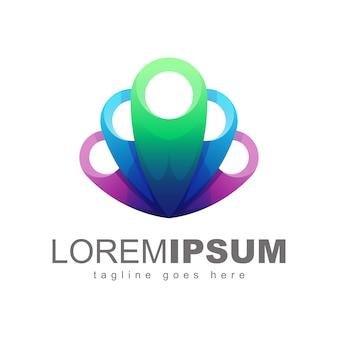 Vetor de design de logotipo abstrato colorfull