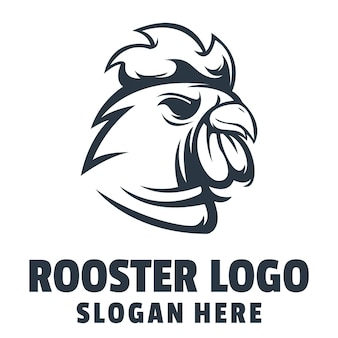 Vetor de design de logotipo com raiva de galo