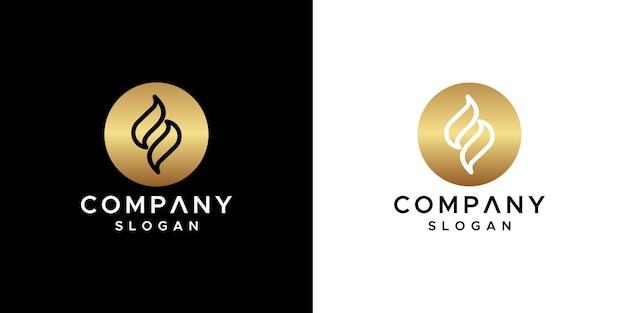 Vetor de design de logotipo da letra s