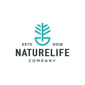 Vetor de design de logotipo de árvore.