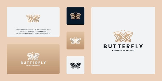 Vetor de design de logotipo de borboleta para branding, spa, moda