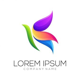 Vetor de design de logotipo de borboleta