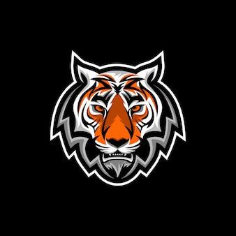 Vetor de design de logotipo de cabeça de tigre