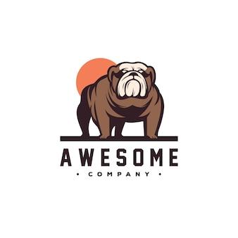 Vetor de design de logotipo de cão incrível