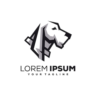 Vetor de design de logotipo de cão