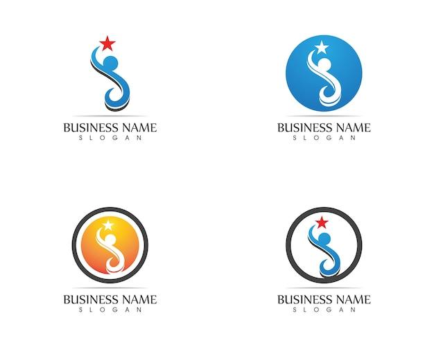 Vetor de design de logotipo de caráter humano
