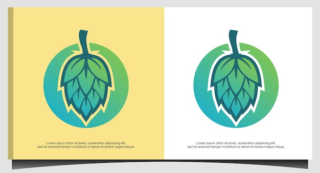 Vetor de design de logotipo de cervejaria fresca