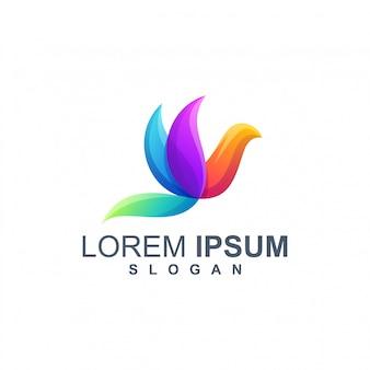Vetor de design de logotipo de cor de pássaro
