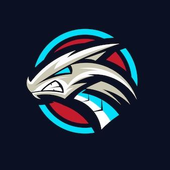 Vetor de design de logotipo de dragão