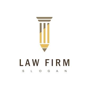 Vetor de design de logotipo de escritório de advocacia