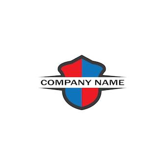 Vetor de design de logotipo de escudo, modelo de logotipo de emblema de escudo, vetor-ícone logosymbol