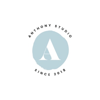 Vetor de design de logotipo de estúdio de anthony
