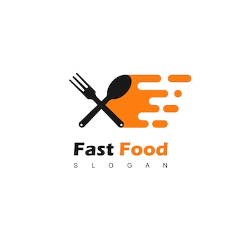 Vetor de design de logotipo de fast food