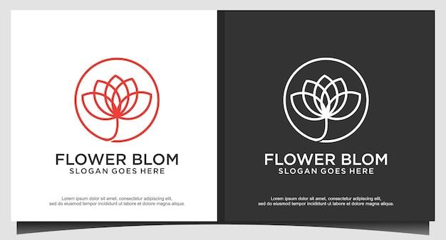 Vetor de design de logotipo de flor de lótus