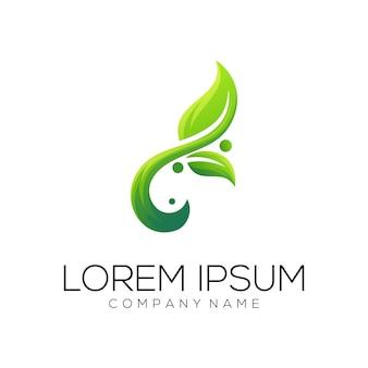 Vetor de design de logotipo de folha