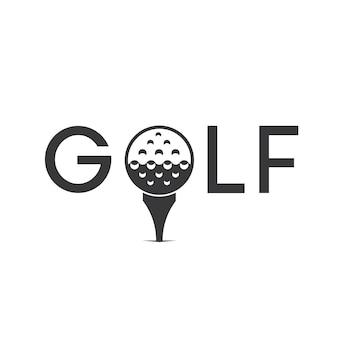 Vetor de design de logotipo de golfe