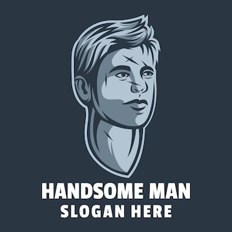 Vetor de design de logotipo de homem bonito