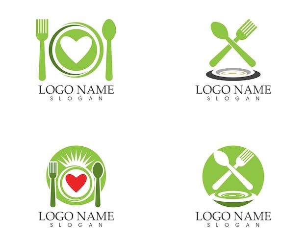 Vetor de design de logotipo de ícone de restaurante