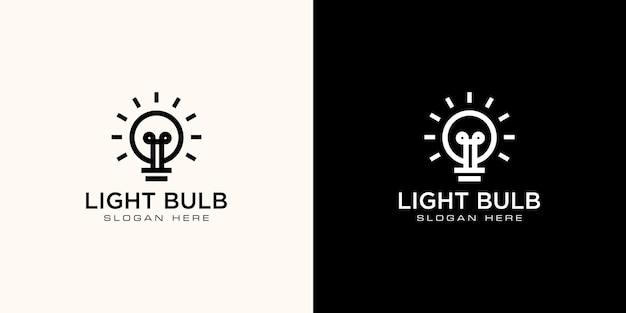 Vetor de design de logotipo de lâmpada