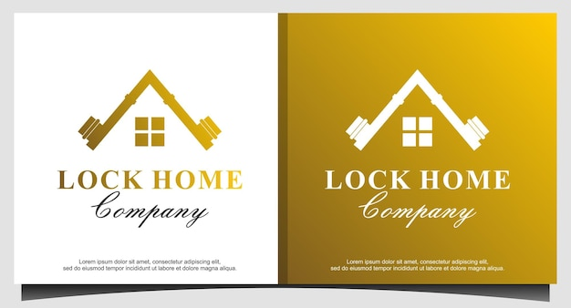 Vetor de design de logotipo de luxo para casa