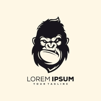 Vetor de design de logotipo de macaco impressionante