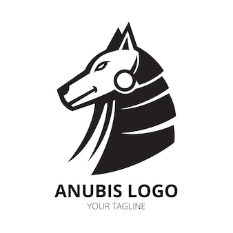 Vetor de design de logotipo de mascote de anubis