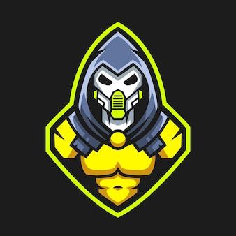 Vetor de design de logotipo de mascote robô