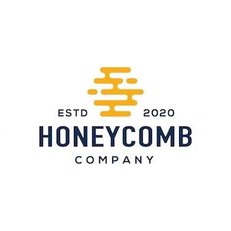 Vetor de design de logotipo de mel.