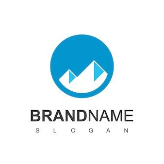 Vetor de design de logotipo de montanha