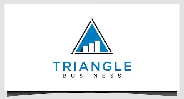 Vetor de design de logotipo de negócios de gráfico de triângulo