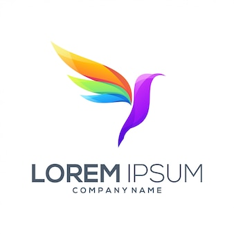 Vetor de design de logotipo de pássaro