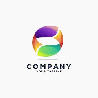 Vetor de design de logotipo de peixe incrível
