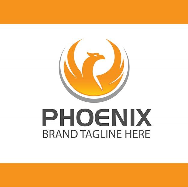 Vetor de design de logotipo de phoenix