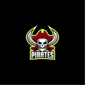 Vetor de design de logotipo de piratas