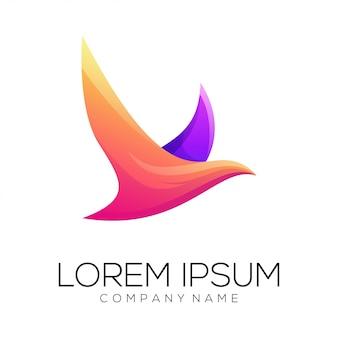 Vetor de design de logotipo de pomba