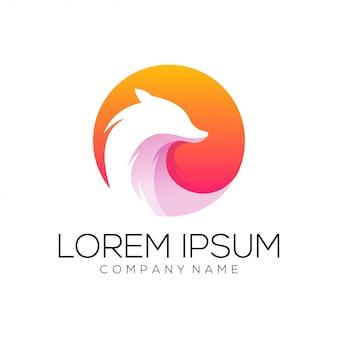 Vetor de design de logotipo de raposa