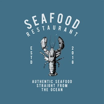 Vetor de design de logotipo de restaurante de frutos do mar