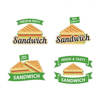 Vetor de design de logotipo de sanduíche