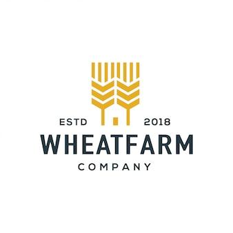 Vetor de design de logotipo de trigo.